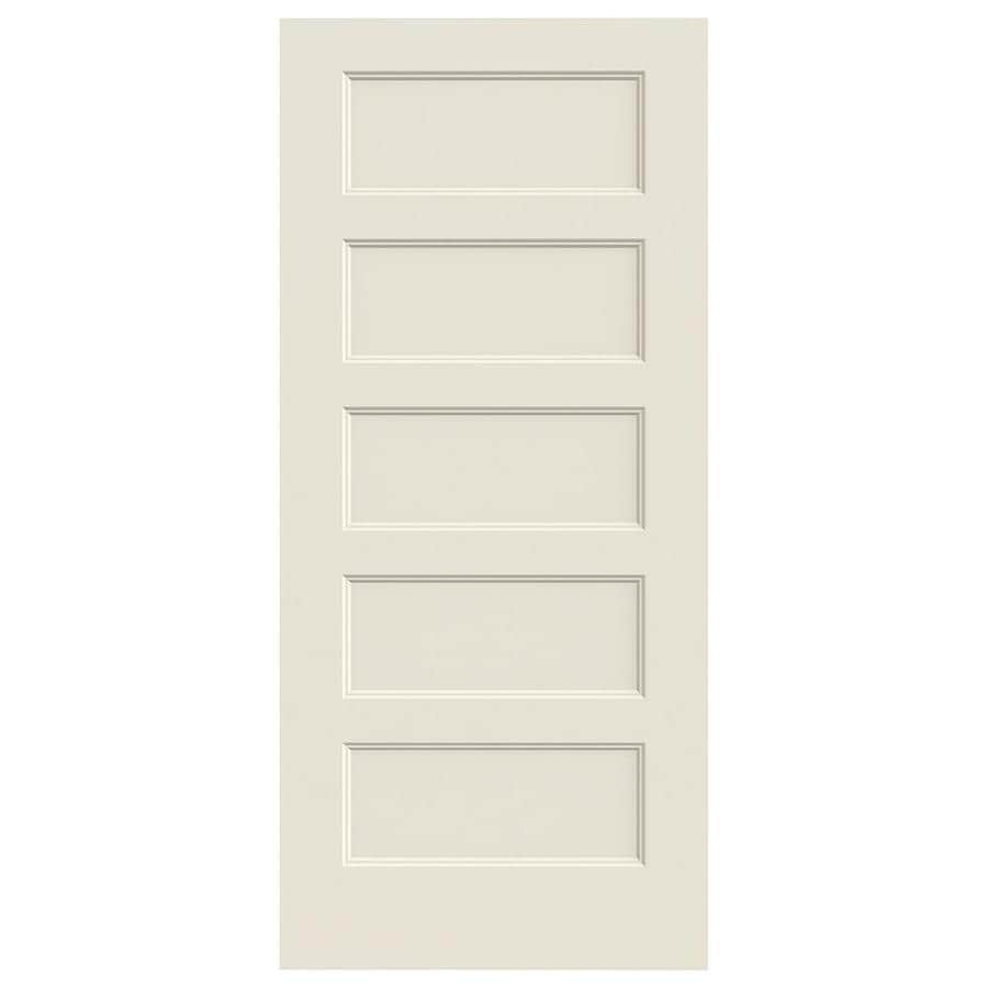 JELD-WEN Conmore Solid Core 5-Panel Square Slab Interior Door (Common: 36-in x 84-in; Actual: 36-in x 84-in)