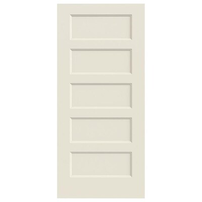 Jeld Wen Conmore Primed 5 Panel Equal Solid Core Molded