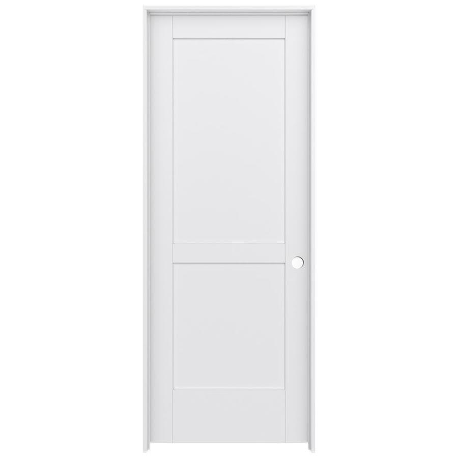 JELD-WEN MODA Primed Solid Core MDF Pine Single Prehung Interior Door (Common: 30-in x 80-in; Actual: 31.5600-in x 81.6900-in)