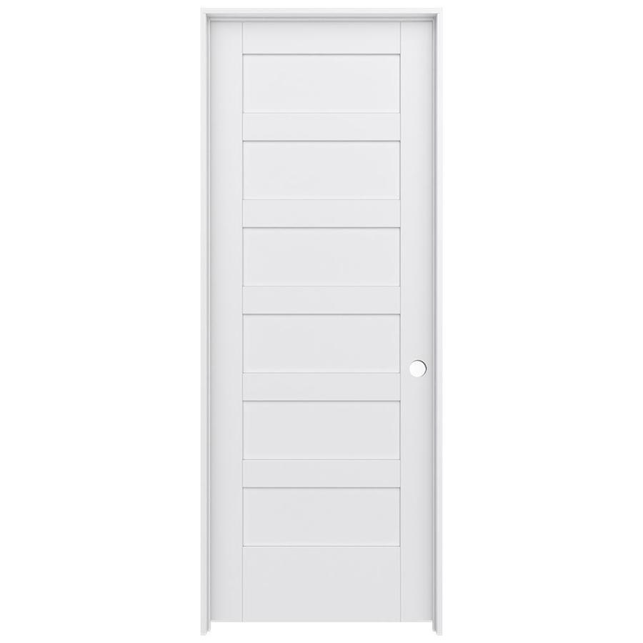 JELD-WEN MODA Pine Single Prehung Interior Door (Common: 30-in x 80-in; Actual: 31.5600-in x 81.6900-in)