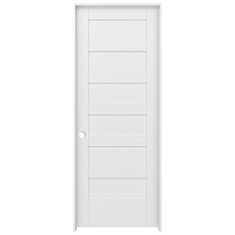 JELD-WEN MODA Primed Wood Pine Single Prehung Interior Door (Common: 30-in X 80-in; Actual: 31.5625-in x 81.9875-in)