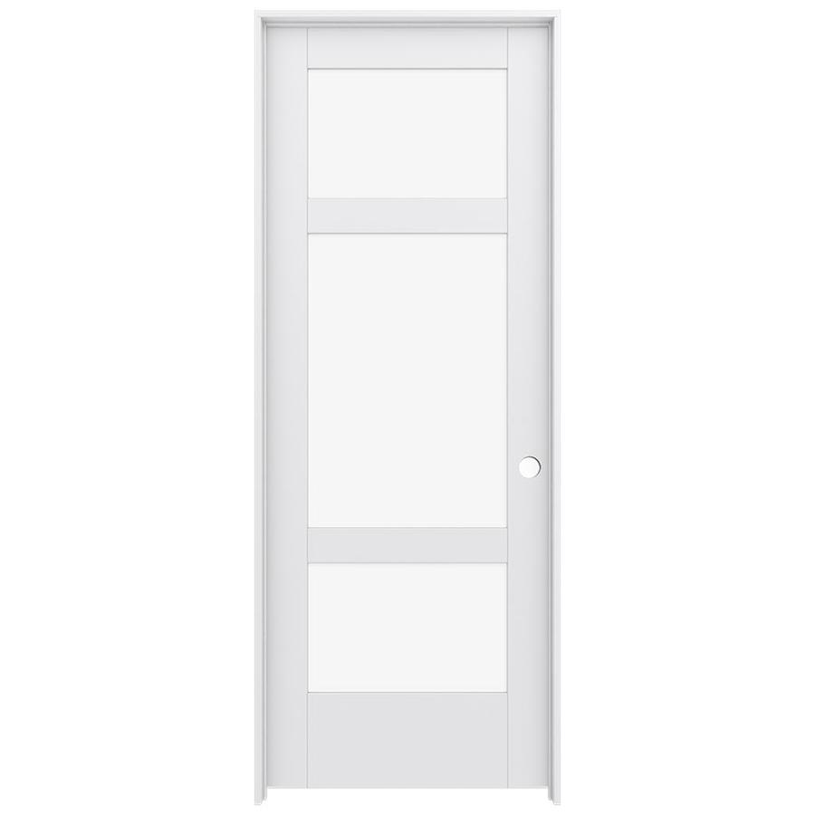 JELD-WEN MODA 3-lite Clear Glass Pine Single Prehung Interior Door (Common: 30-in x 80-in; Actual: 81.688-in x 31.562-in)
