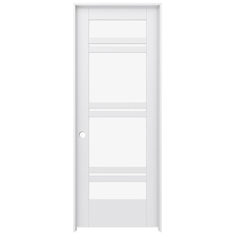 Shop Jeld Wen Moda Primed Solid Core Clear Glass Mdf Pine