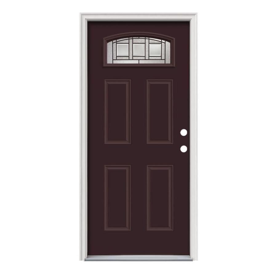 Shop jeld wen craftsman glass 4 panel insulating core for Glass panel exterior door