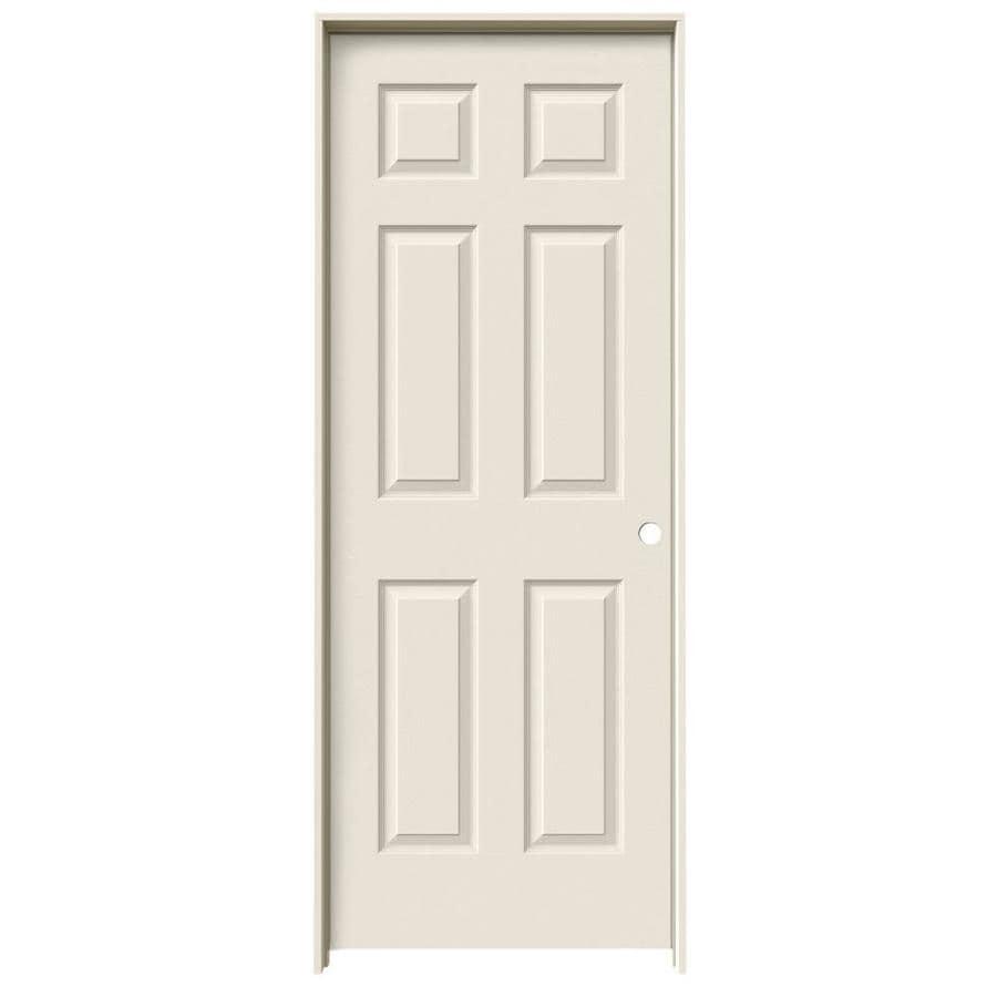JELD-WEN 6-panel Single Prehung Interior Door (Common: 24-in x 80-in; Actual: 25.5-in x 81.5-in)