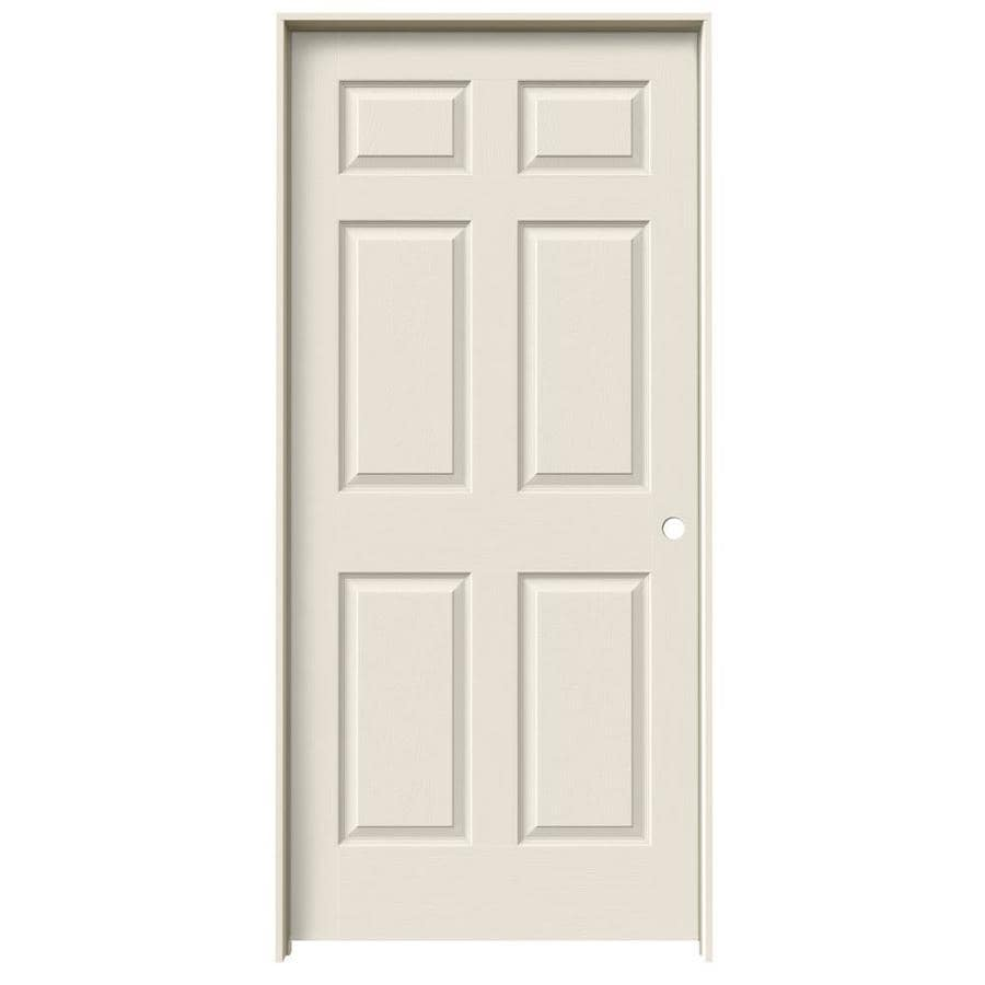 JELD-WEN 6-Panel Prehung Hollow Core 6-Panel Interior Door (Common: 36-in x 80-in; Actual: 37.5-in x 81.5-in)