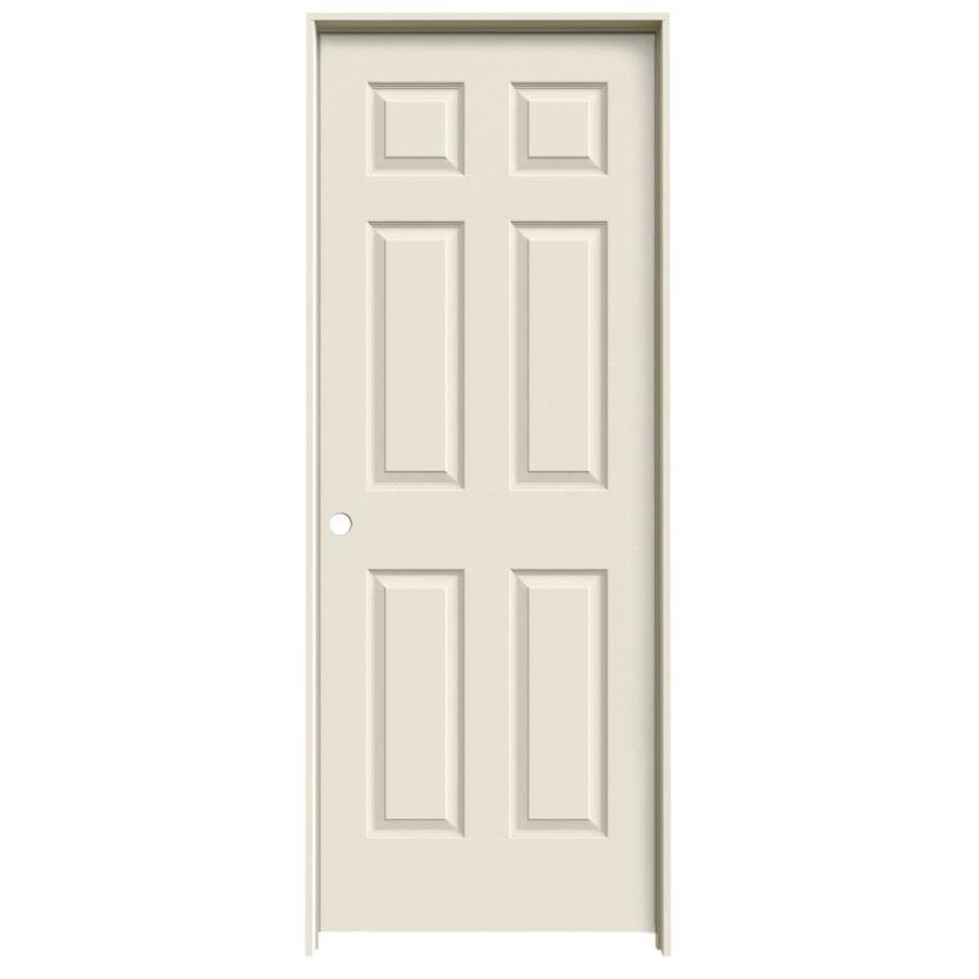 Shop Jeld Wen 6 Panel Single Prehung Interior Door Common 32 In X 80 In Actual 33 5 In X 81