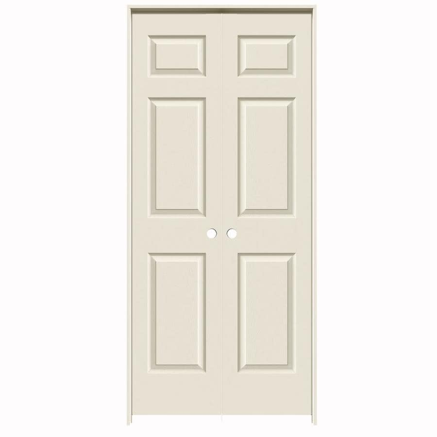 Shop Reliabilt Primed 6 Panel Hollow Core Molded Composite Double Pre Hung Door Common 36 In X