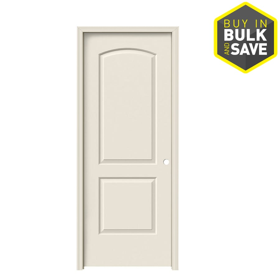 jeld wen 2 panel round top single prehung interior door common 28 in