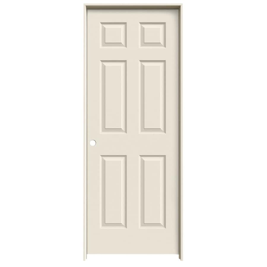 JELD-WEN 6-panel Single Prehung Interior Door (Common: 32-in x 80-in; Actual: 33.5-in x 81.5-in)