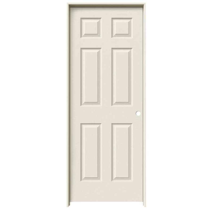JELD-WEN 6-Panel Prehung Hollow Core 6-Panel Interior Door (Common: 32-in x 80-in; Actual: 33.5-in x 81.5-in)