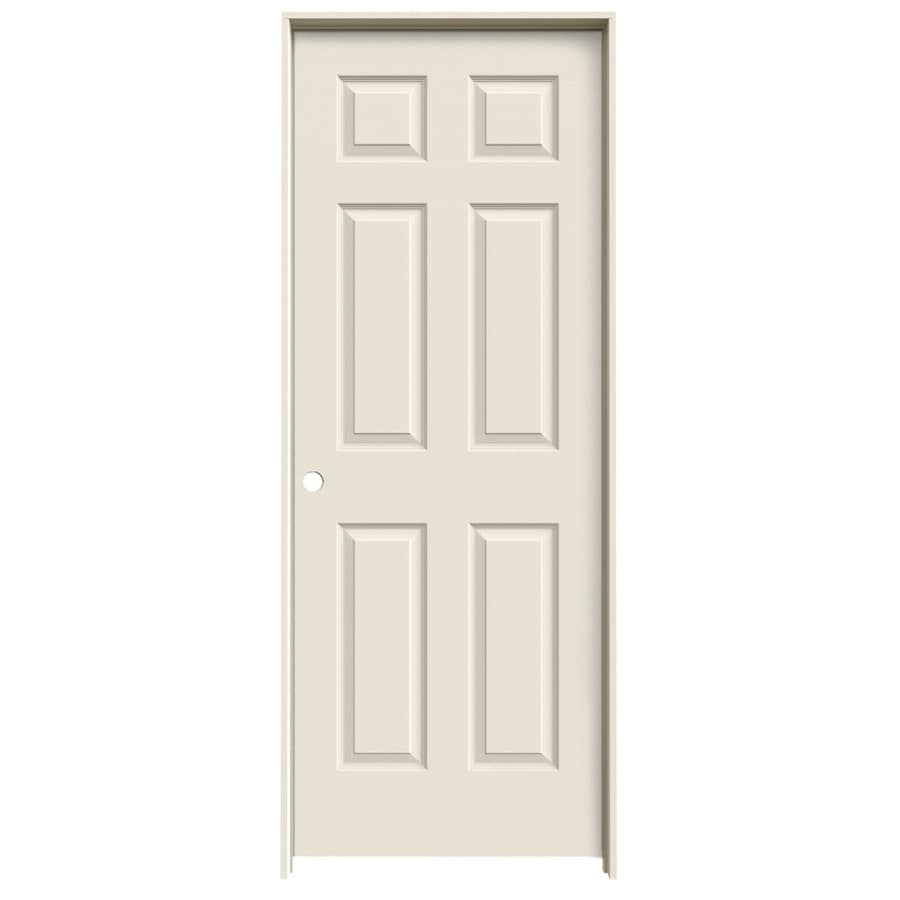 JELD-WEN 6-Panel Prehung Hollow Core 6-Panel Interior Door (Common: 28-in x 80-in; Actual: 29.5000-in x 81.5000-in)