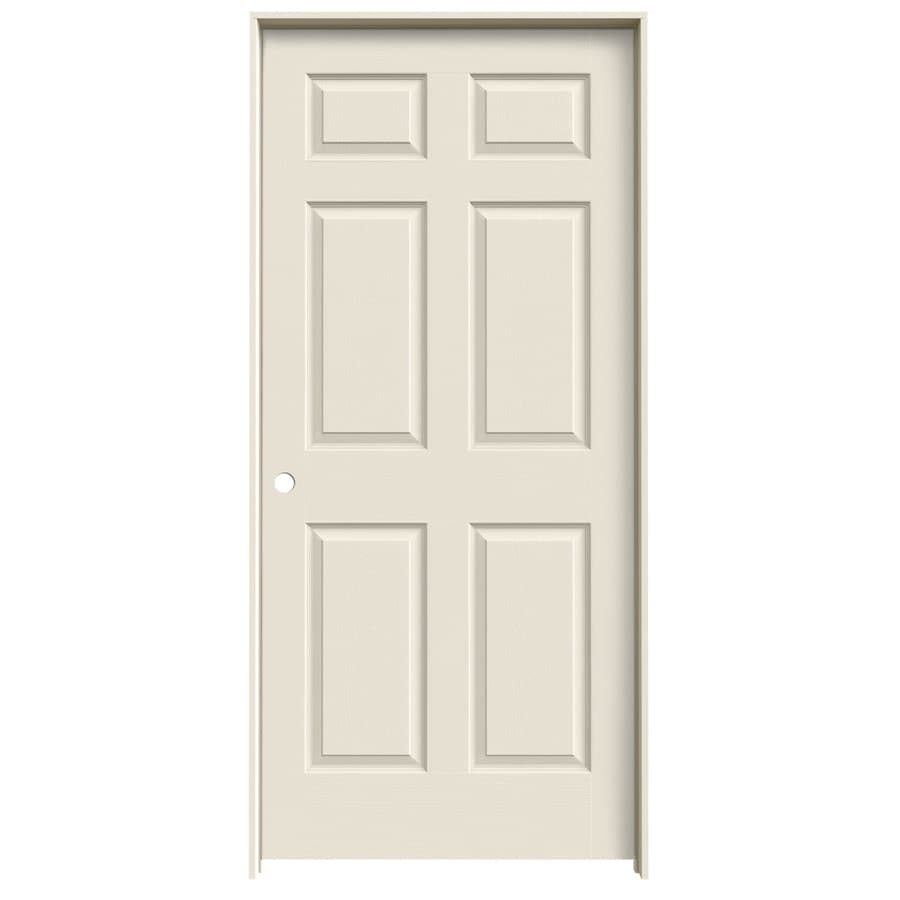 Shop jeld wen 6 panel single prehung interior door common for Prehung interior doors