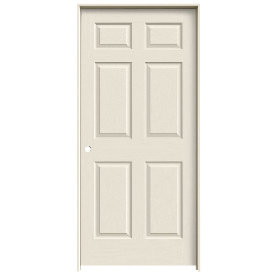 shop jeld wen 6 panel single prehung interior door common 36 in x 80 in actual 37 5 in x 81
