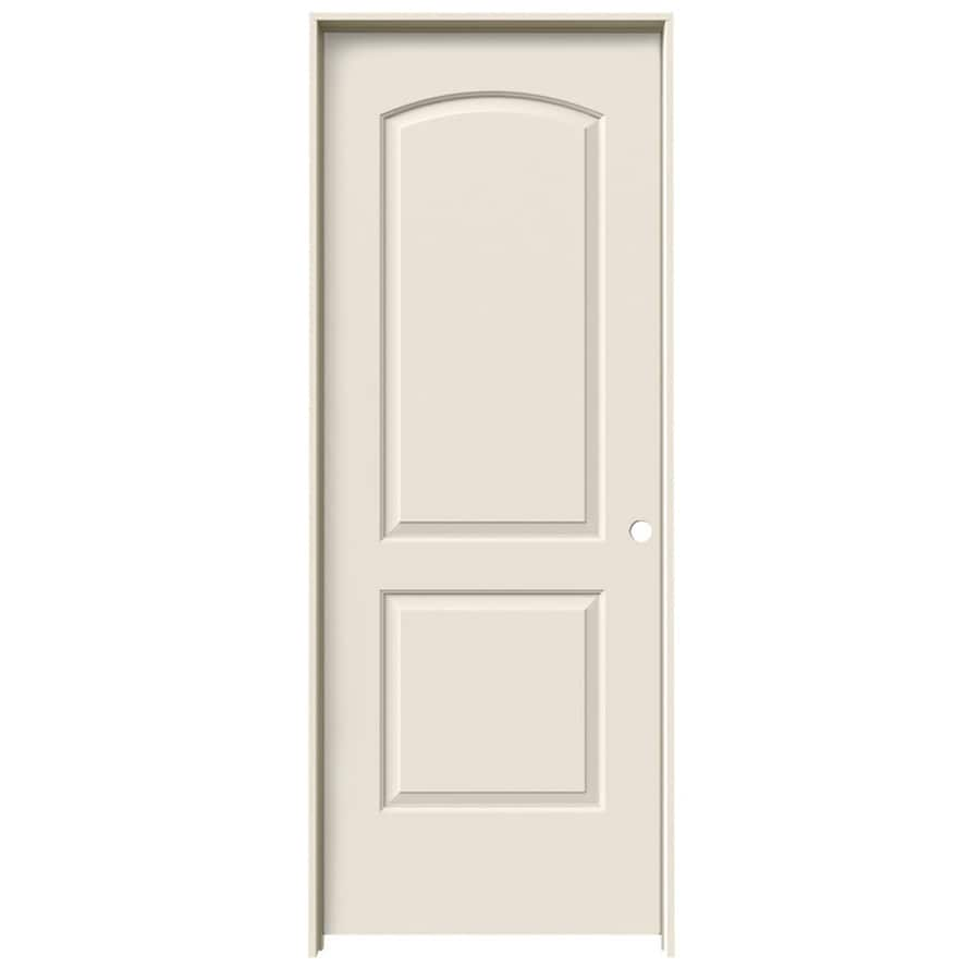 Shop Jeld Wen 2 Panel Round Top Single Prehung Interior Door Common 32 In X 80 In Actual 33