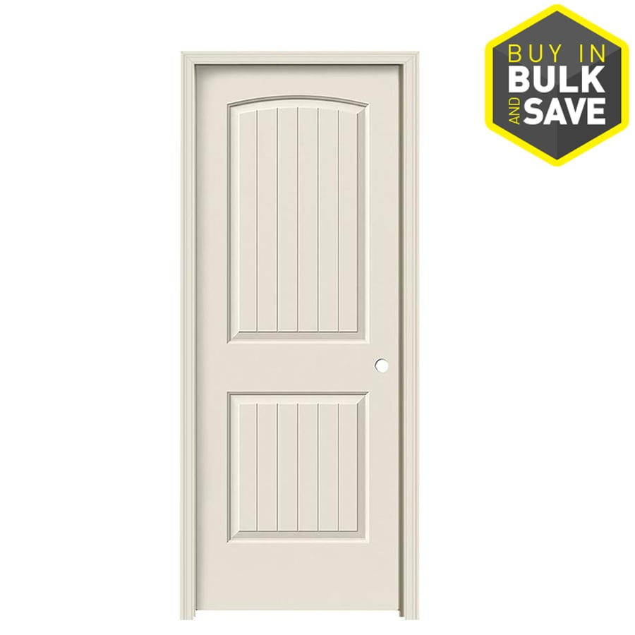 JELD-WEN 2-Panel Round Top Plank Prehung Hollow Core 2-Panel Round Top Plank Interior Door (Common: 30-in x 80-in; Actual: 31.5-in x 81.5-in)