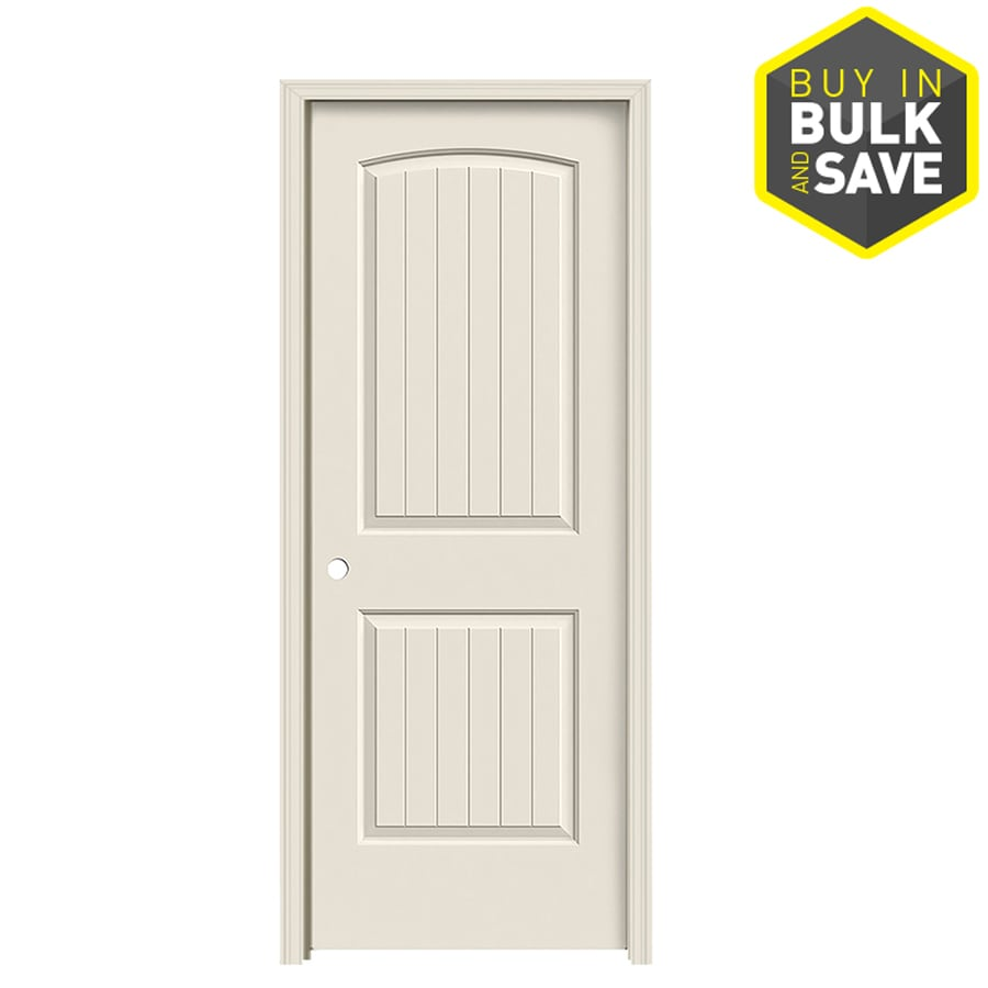 JELD-WEN 2-Panel Round Top Plank Prehung Hollow Core 2-Panel Round Top Plank Interior Door (Common: 32-in x 80-in; Actual: 33.5-in x 81.5-in)