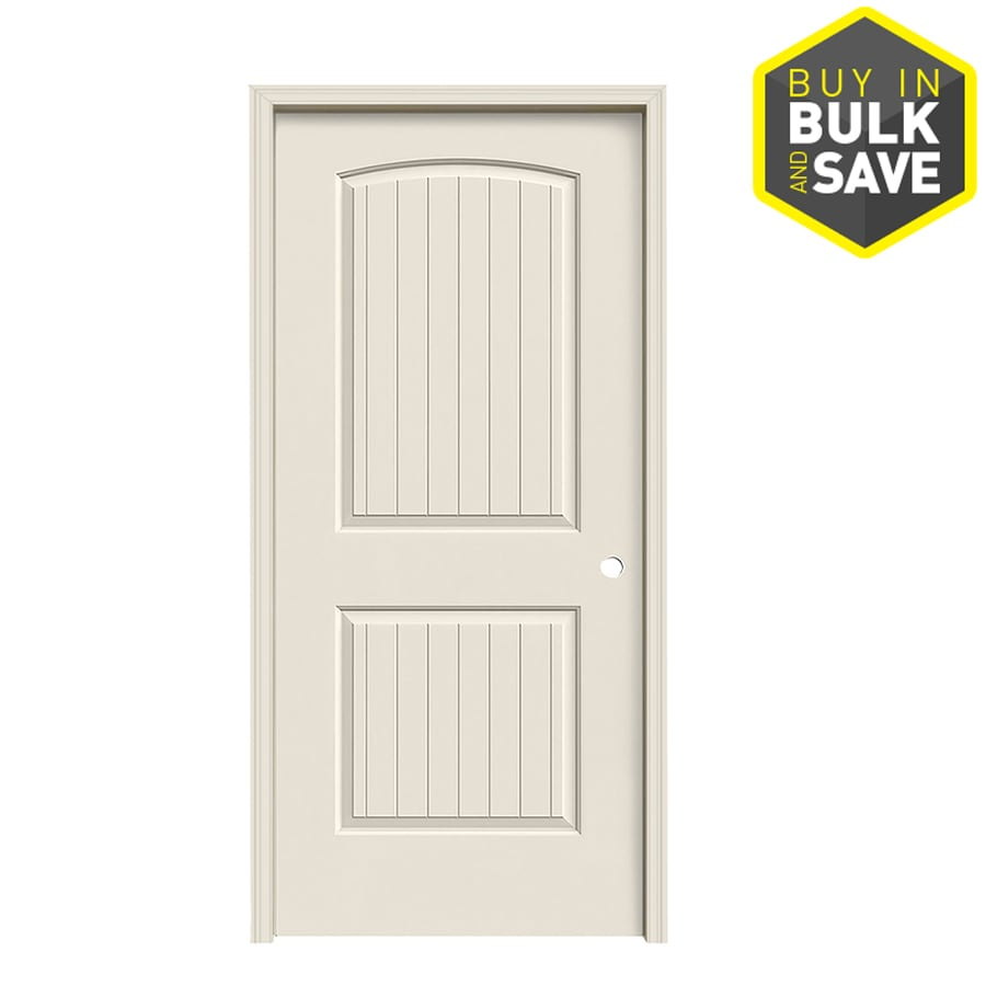 ReliaBilt 2-panel Round Top Plank Single Prehung Interior Door (Common: 36-in x 80-in; Actual: 37.5-in x 81.5-in)