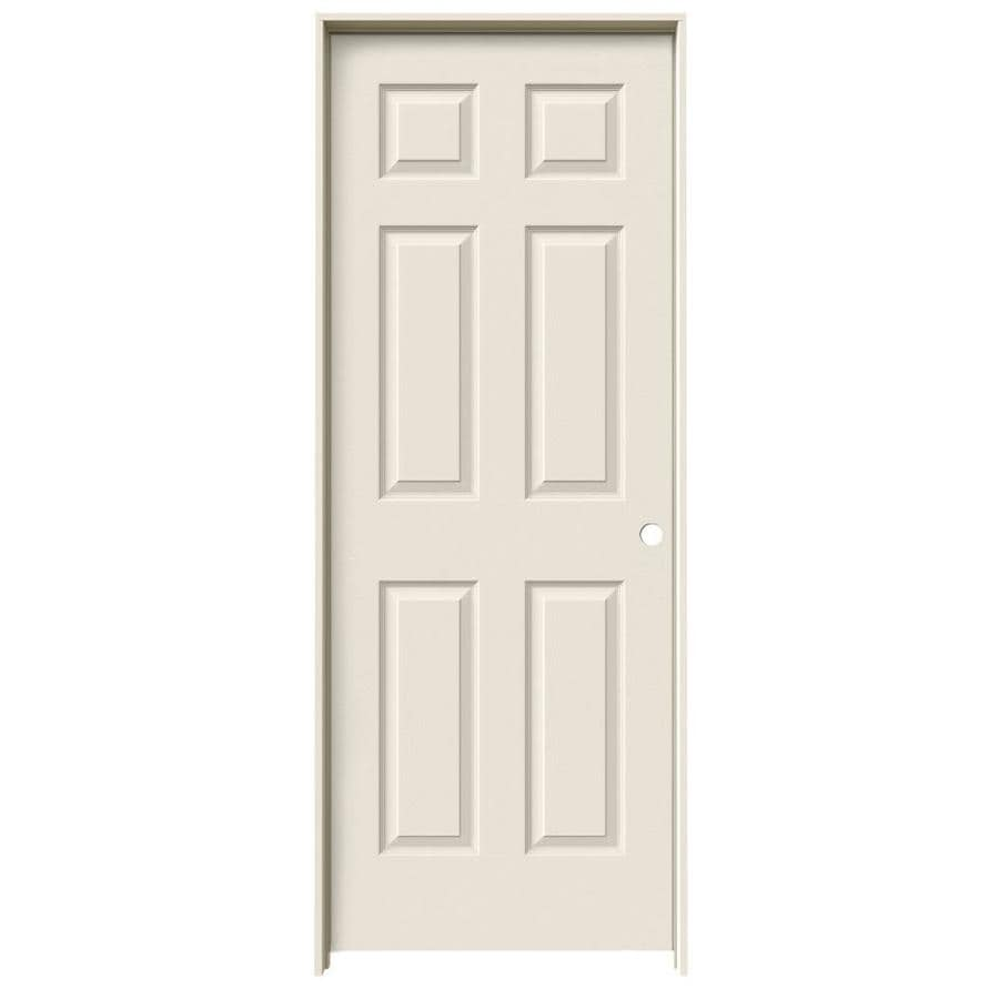 Shop jeld wen 6 panel single prehung interior door common for 18 x 80 closet door