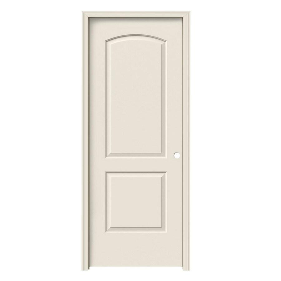 JELD-WEN 2-Panel Round Top Prehung Hollow Core 2-Panel Round Top Interior Door (Common: 24-in x 80-in; Actual: 25.5-in x 81.5-in)