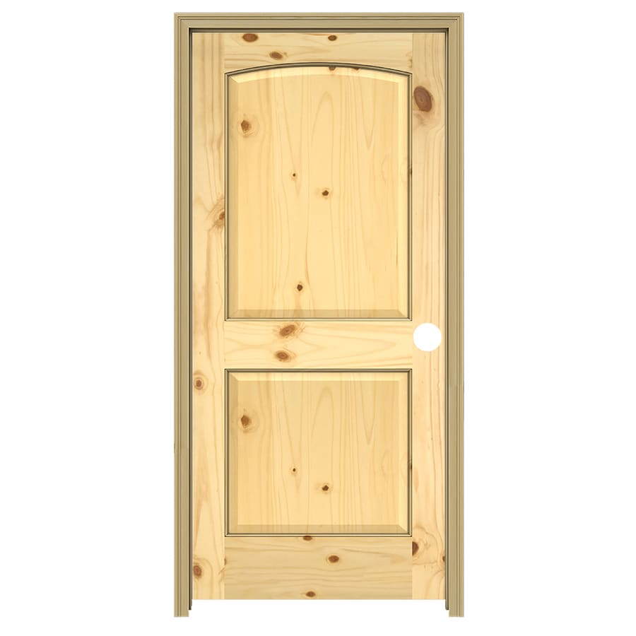 ReliaBilt arch top Solid Core Knotty Pine Single Prehung Interior Door (Common: 30-in x 80-in; Actual: 31.5000-in x 81.5000-in)