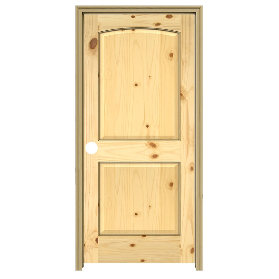 JELD-WEN 2-panel Arch Top Knotty Pine Single Prehung Interior Door (Common: 36-in x 80-in; Actual: 37.5-in x 81.5-in)