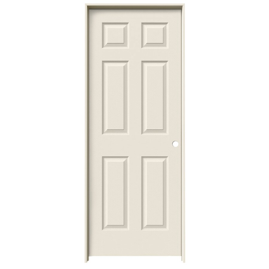 ReliaBilt Colonist Primed Hollow Core Molded Composite Single Prehung Interior Door (Common: 18-in x 80-in; Actual: 19.5-in x 81.5-in)