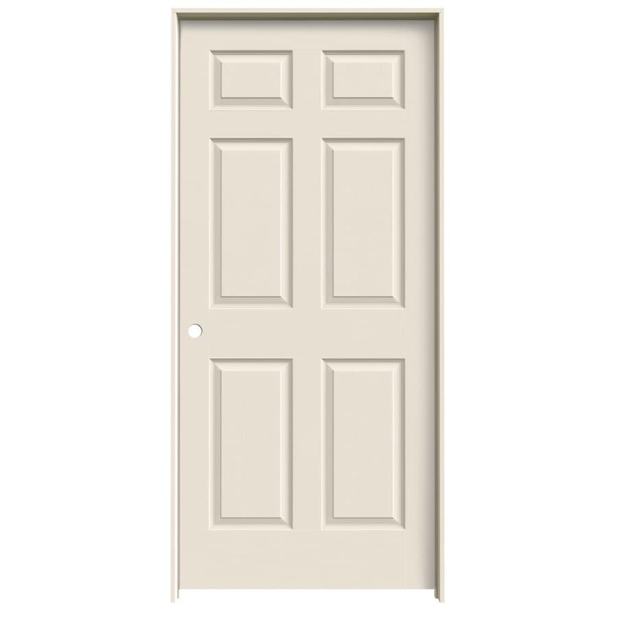JELD-WEN 6-Panel Prehung Hollow Core 6-Panel Interior Door (Common: 36-in x 80-in; Actual: 37.5-in x 81.5-in)