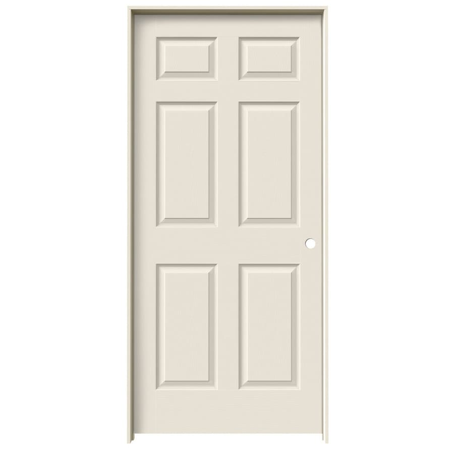 Shop jeld wen 6 panel single prehung interior door common 36 in x 80 in actual 37 5 in x 81 - Hollow core interior doors lowes ...