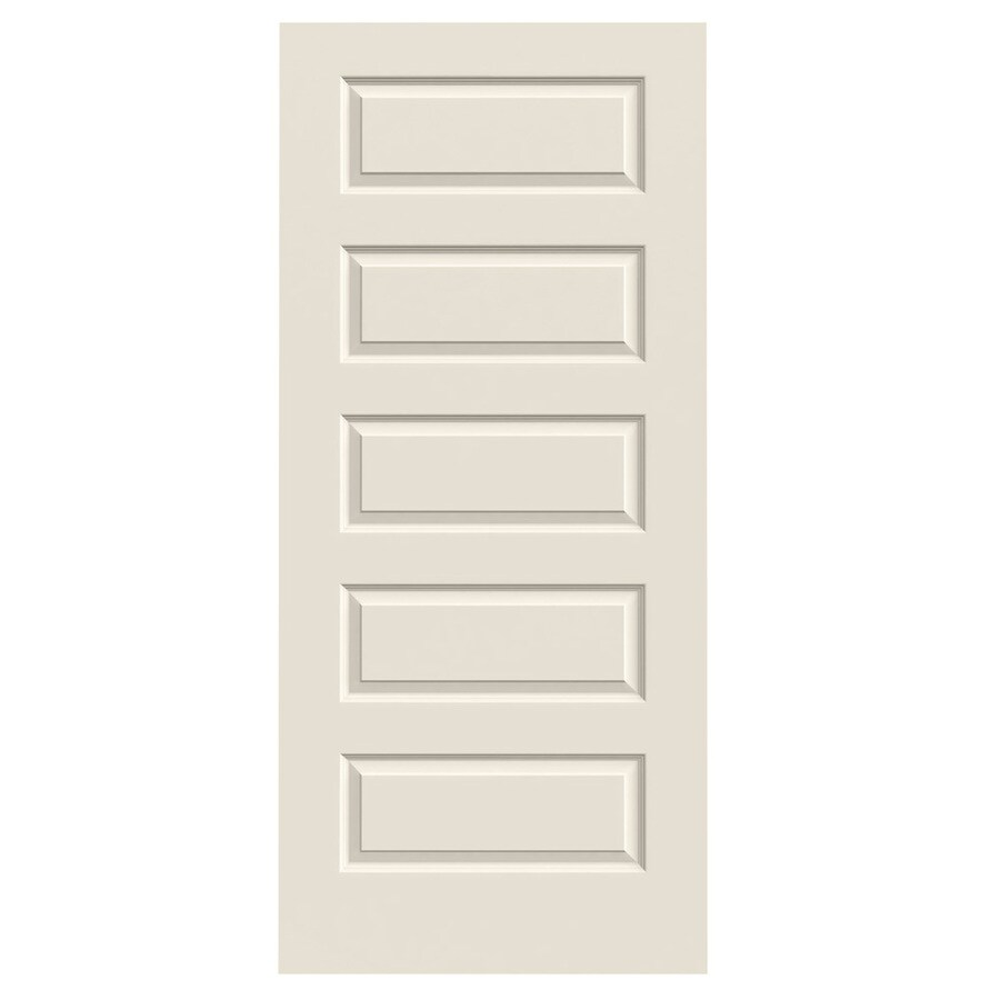 JELD-WEN (Primed) Hollow Core 5-Panel Equal Slab Interior Door (Common: 36-in x 80-in; Actual: 36-in x 80-in)
