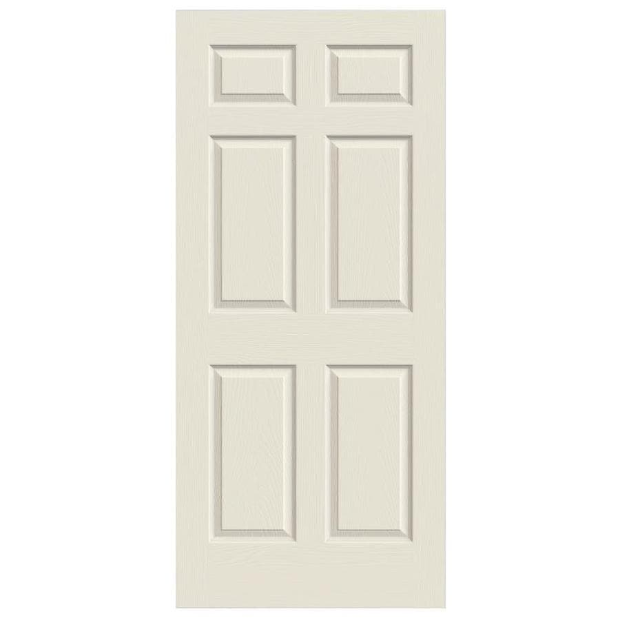 Shop reliabilt hollow core 6 panel slab interior door for Interior entrance doors
