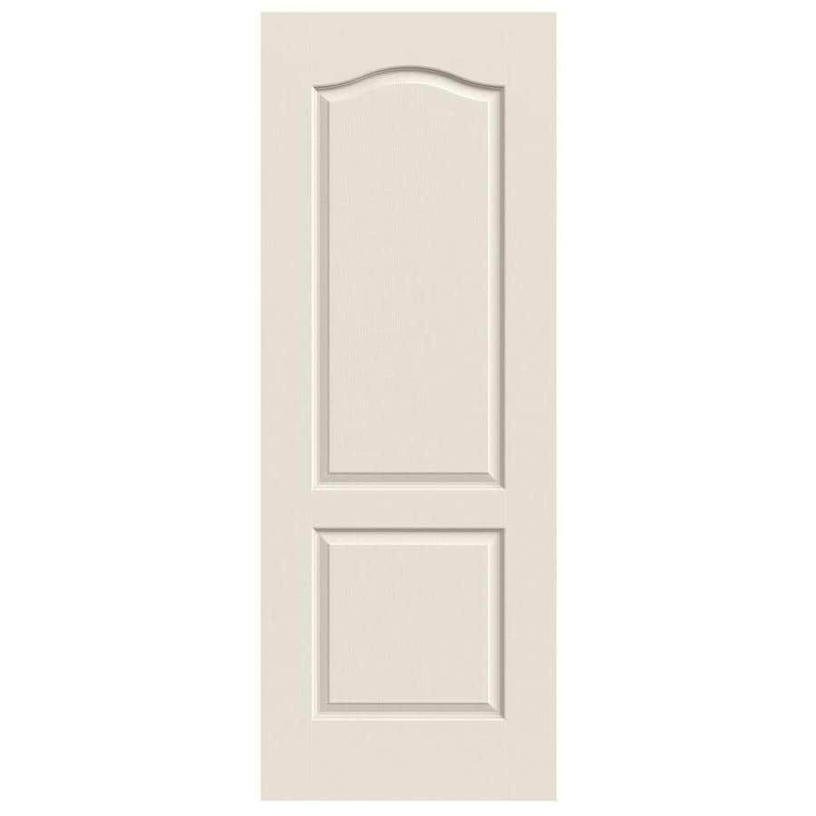 Shop jeld wen 2 panel arch top slab interior door common 30 in x 80 in actual 30 in x 80 in for 2 panel arch top interior doors