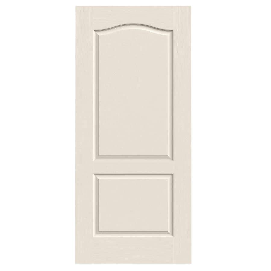 JELD-WEN (Primed) Hollow Core 2-Panel Arch Top Slab Interior Door (Common: 36-in x 80-in; Actual: 36-in x 80-in)