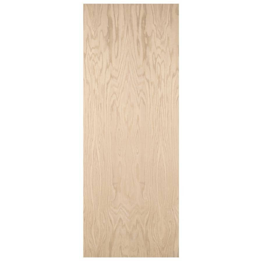 ReliaBilt Flush Oak Slab Interior Door (Common: 28-in x 80-in; Actual: 28-in x 80-in)