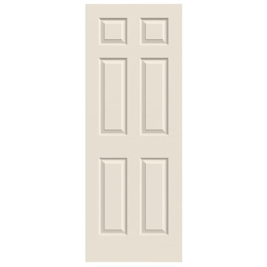 Shop Jeld Wen Colonist Primed 6 Panel Solid Core Molded Composite Slab Door Common 30 In X 80