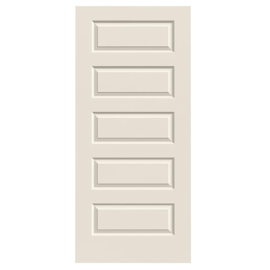 Jeld Wen Rockport Primed 5 Panel Equal Solid Core Molded