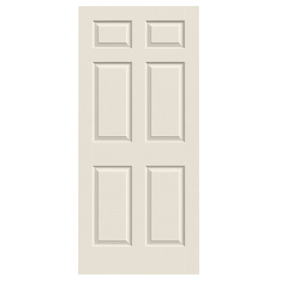 Jeld Wen Colonist Primed 6 Panel Solid Core Molded