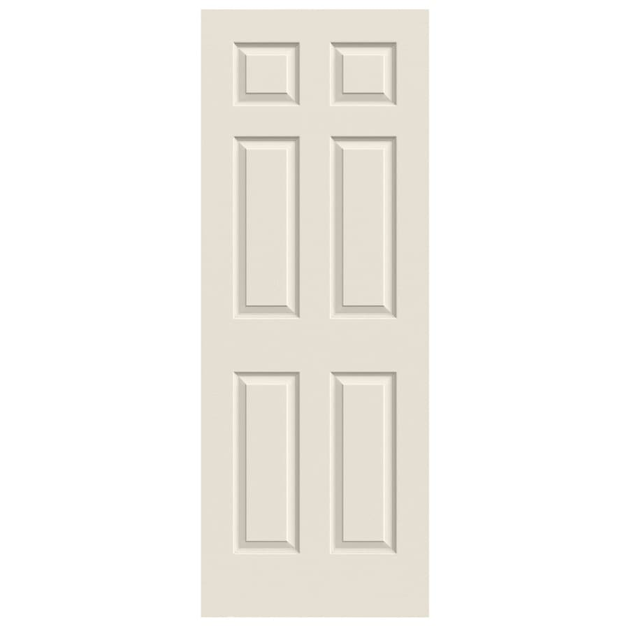 JELD-WEN (Primed) Solid Core 6-Panel Slab Interior Door (Common: 32-in x 80-in; Actual: 32-in x 80-in)