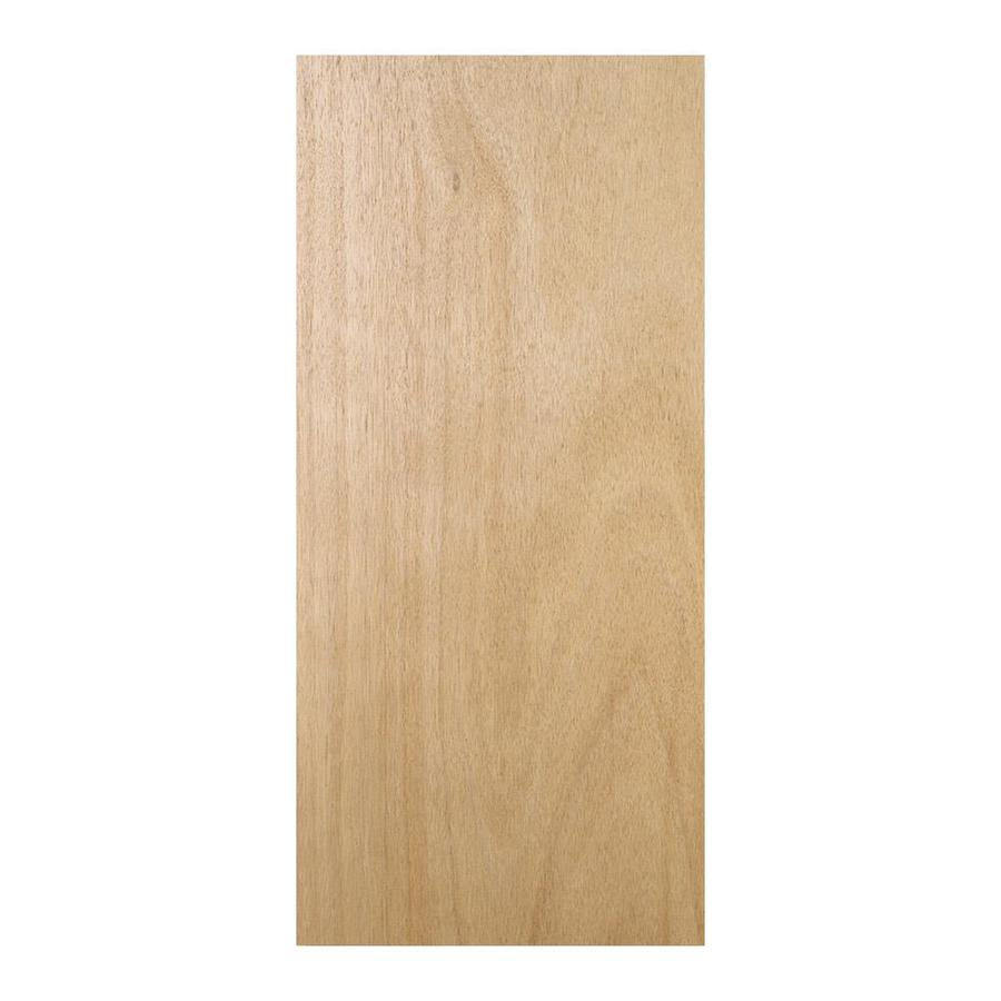 Shop reliabilt hollow core flush lauan slab interior door for Flush solid core wood interior doors
