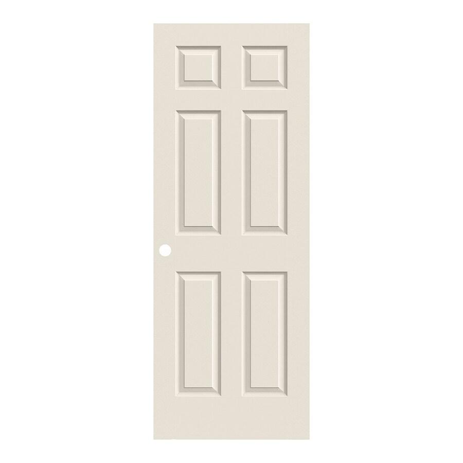 ReliaBilt 6-Panel Hollow Core Textured Bored Interior Slab Door (Common: 28-in x 80-in; Actual: 28-in x 80-in)