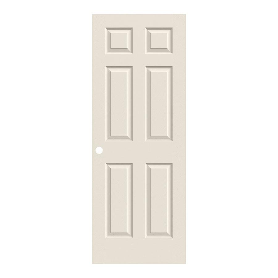 ReliaBilt 6-Panel Hollow Core Textured Bored Interior Slab Door (Common: 32-