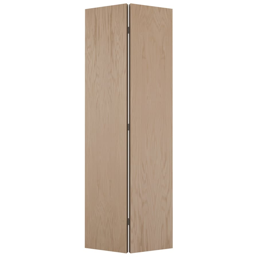 ReliaBilt Flush Hollow Core Oak Bi-Fold Closet Interior Door with Hardware (Common: 24-in x 80-in; Actual: 24-in x 80-in)