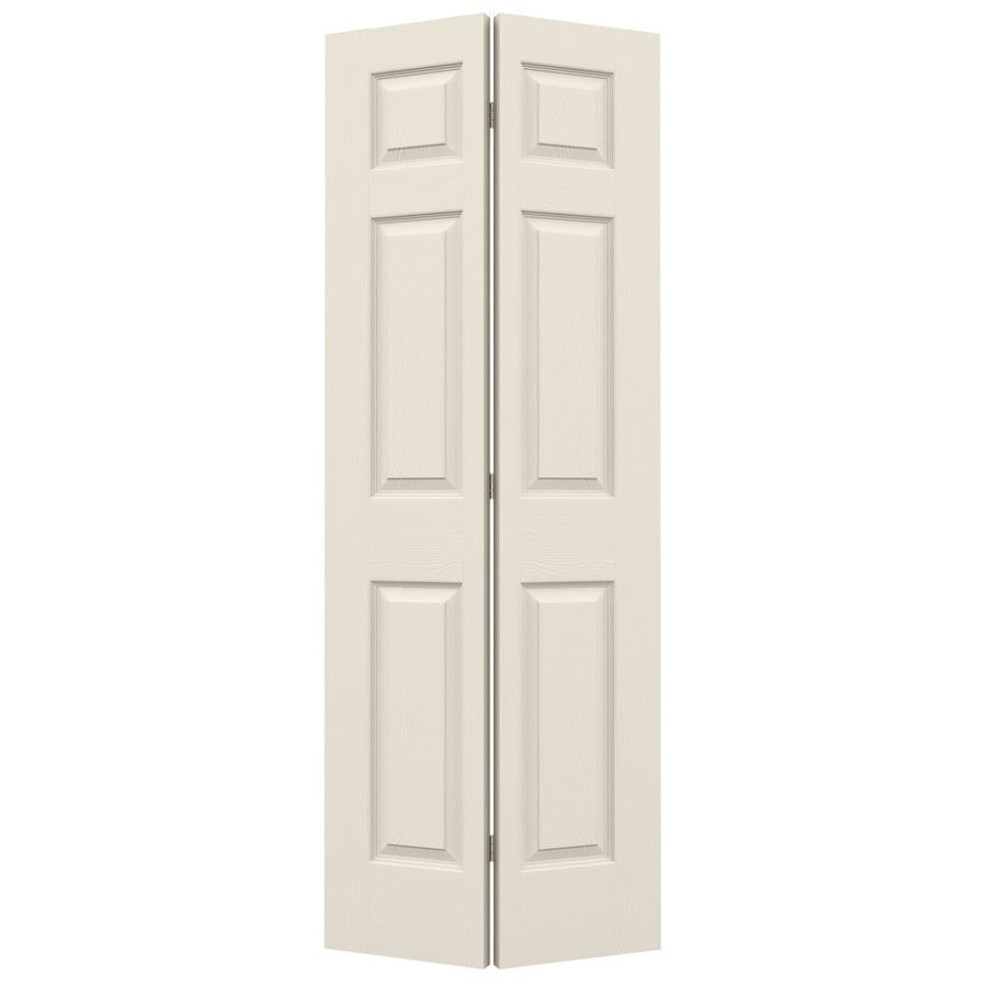 ReliaBilt (Primed) Hollow Core 6-Panel Bi-Fold Closet Interior Door (Common: 30-in x 80-in; Actual: 29.5-in x 79-in)
