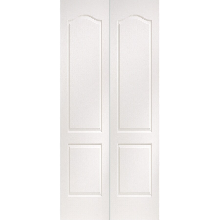 ReliaBilt Primed Hollow Core Molded Composite Bi-Fold Closet Interior Door with Hardware (Common: 36-in x 80-in; Actual: 35.6000-in x 79-in)