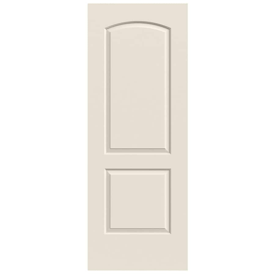 JELD-WEN (Primed) Solid Core 2-Panel Round Top Slab Interior Door (Common: 24-in x 80-in; Actual: 24-in x 80-in)