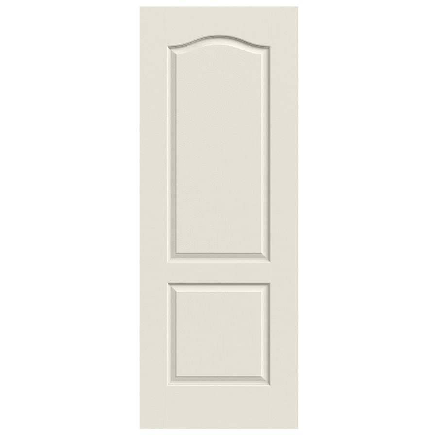 JELD-WEN (Primed) Solid Core 2-Panel Arch Top Slab Interior Door (Common: 30-in x 80-in; Actual: 30-in x 80-in)