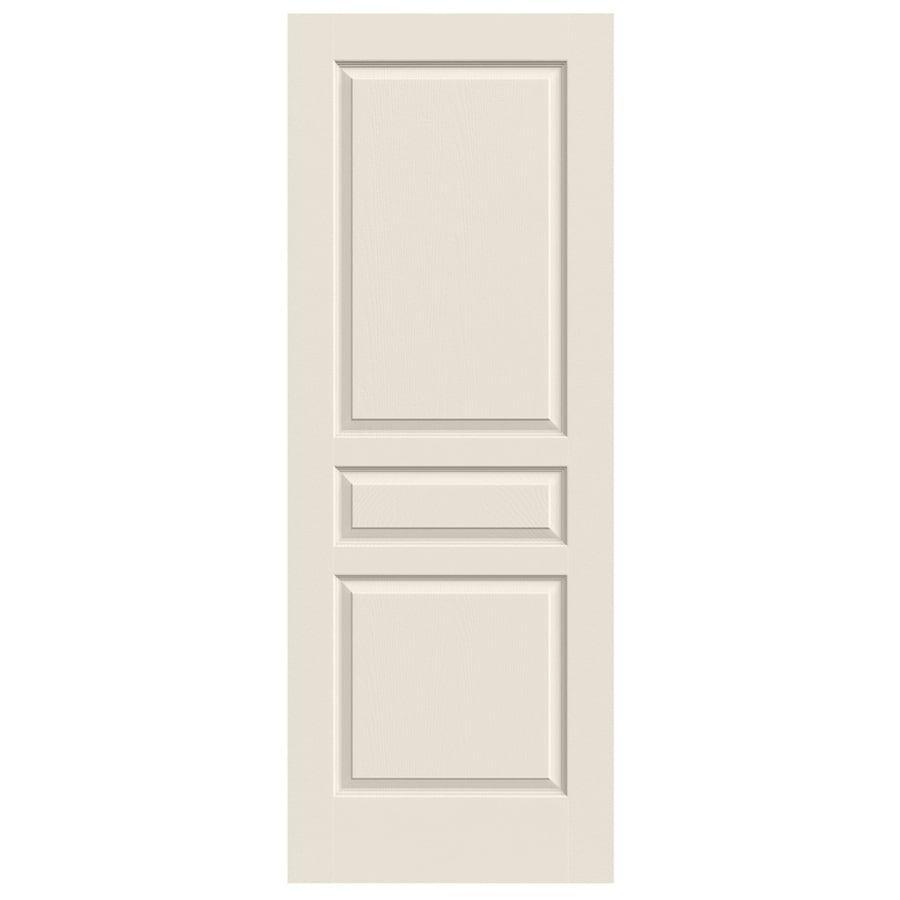 Jeld wen avalon primed 3 panel square hollow core molded - 3 panel hollow core interior doors ...