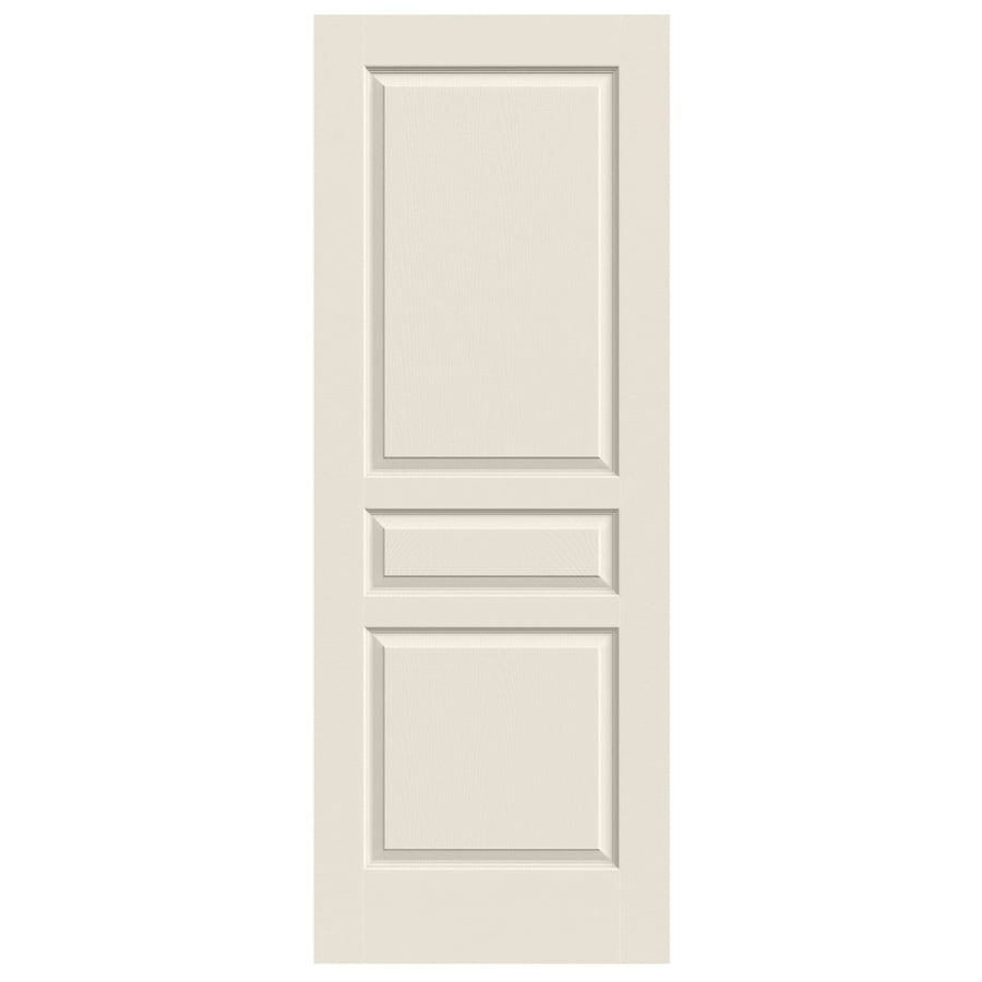 JELD-WEN (Primed) Hollow Core 3-Panel Square Slab Interior Door (Common: 32-in x 80-in; Actual: 32-in x 80-in)