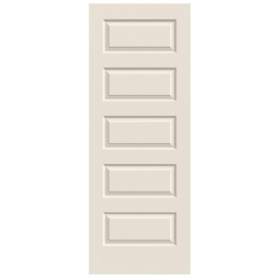 JELD-WEN (Primed) Solid Core 5-Panel Equal Slab Interior Door (Common: 28-in x 80-in; Actual: 28-in x 80-in)