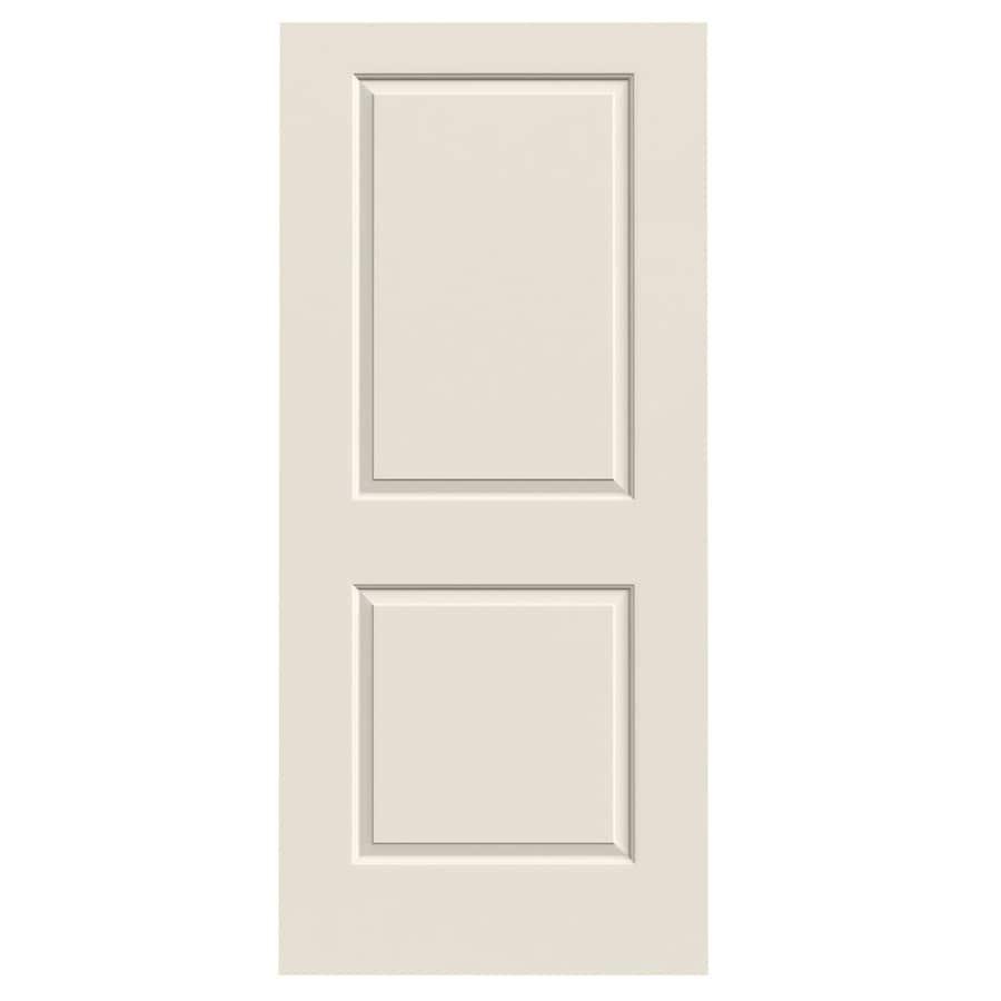 Shop Jeld Wen Primed Solid Core 2 Panel Square Slab Interior Door Common 36 In X 80 In